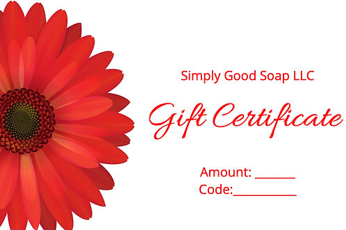 SGS Gift Certificate