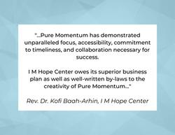 Testimonial from Rev. Dr. Kofi Baah-Arhin, I M Hope Center