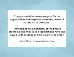 Testimonial from Daisy Ozim, www.daisyozim.com