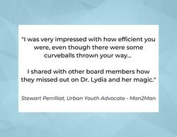 Testimonial from Stewart Perrilliat, Urban Youth Advocate - Man2Man