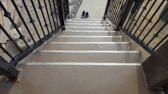 Stairs to deck