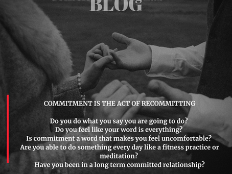 COMMITMENT IS THE ACT OF RECOMMITTING