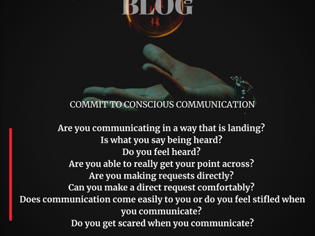 COMMIT TO CONSCIOUS COMMUNICATION
