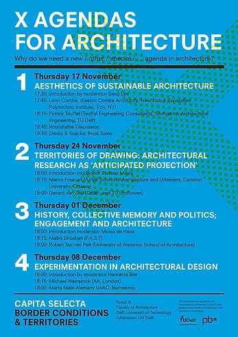 X Agendas for Architecture I