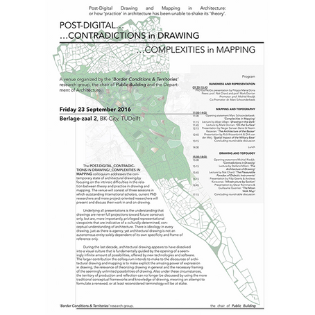 Colloquium: Post-Digital Contradictions in Drawing Complexities in Mapping