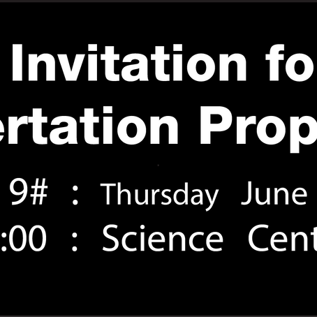 Open Invitation: PhD Dissertation Proposals