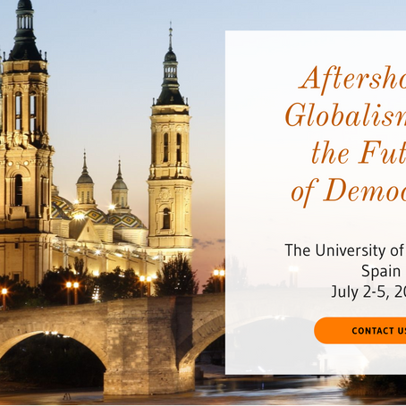 "ISSEI Conference in Zaragoza: ""Aftershocks: Globalism and the Future of Democracy"""