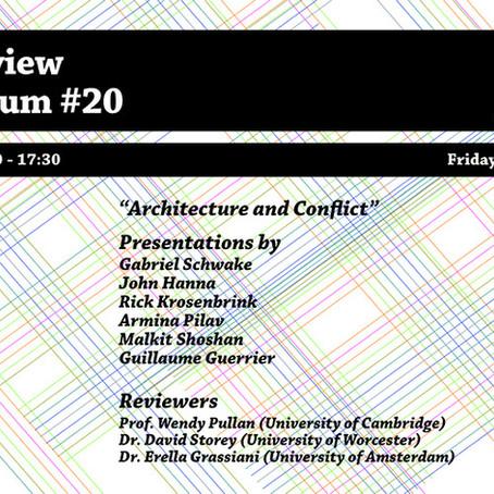 Peer Review Colloquium: 'Architecture and Conflict'