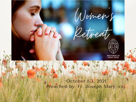 Women's Retreat Oct 1-3, 2021