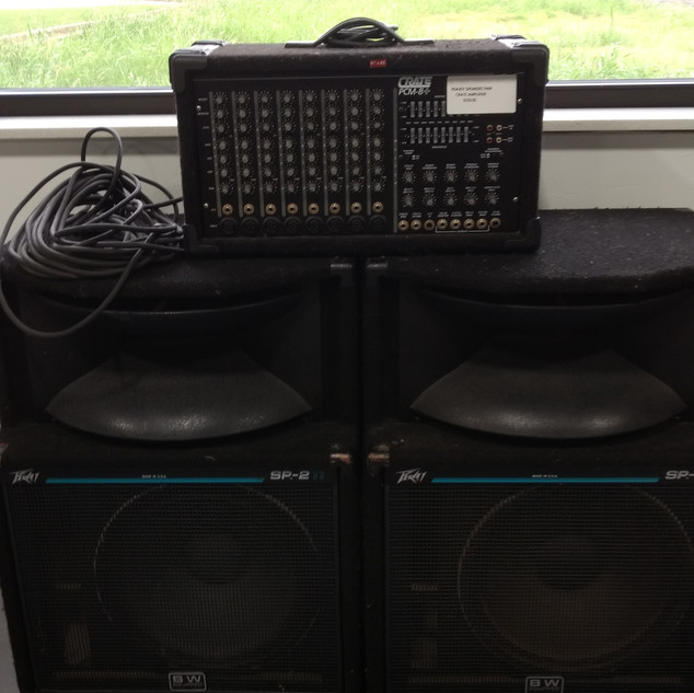 Peavey speakers pair w/ Crate amplifier