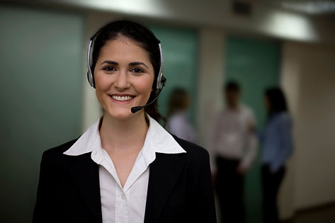 Photo of a woman wearing a headset