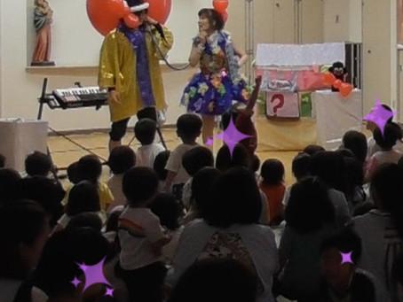 一日ありがとう(^^) 幼稚園でパフォーマンス