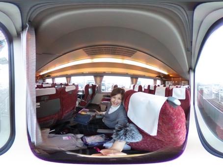電車に乗って〜。