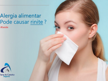 Alergia alimentar pode causar rinite?