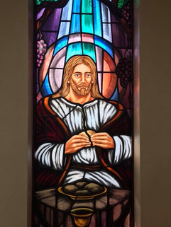 Holy Eucharist Stained Glass Window