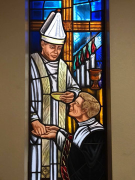Holy Orders Stained Glass WIndow