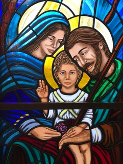 Holy Family Stained Glass Window