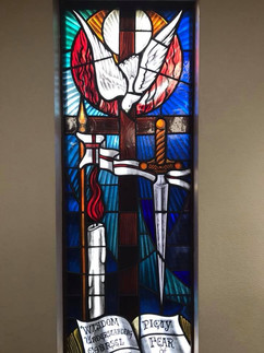 Confirmation Stained Glass Window