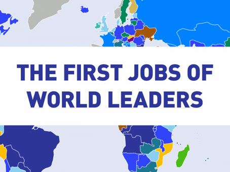 What are the the First Jobs of World Leaders?