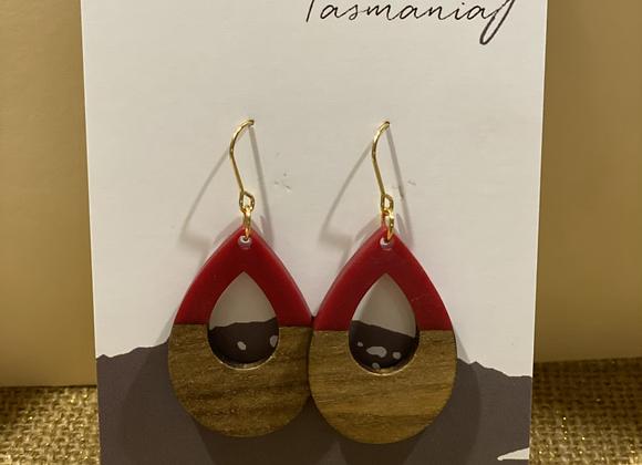 Red Finch Earrings
