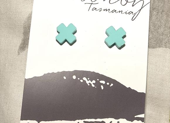 Pastel Green Crosses