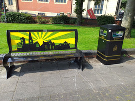 Town Silouette Bench