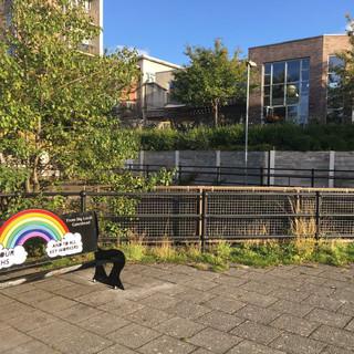 NHS bench Gateshead