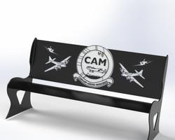 CAM memorial bench
