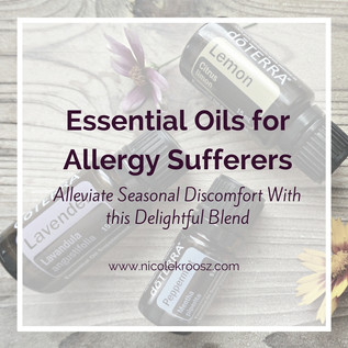Essential Oil Blend For Allergy Sufferers