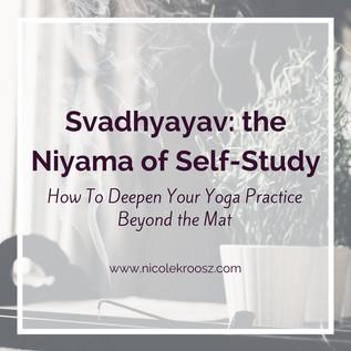 Svadhyayav: the Niyama of Self-Study