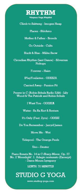 Vinyasa Yoga Playlist- Rhythm - 60mins