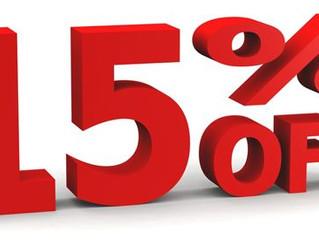 End of Season Heater Sale 15% off!