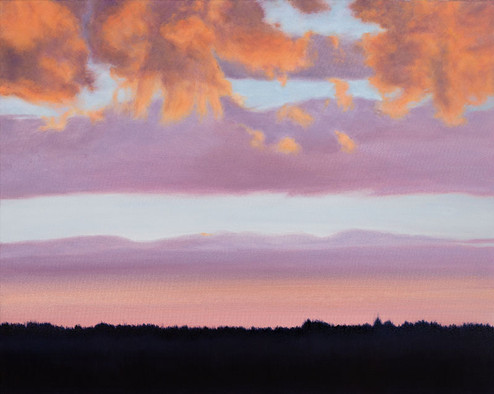 """Talking To The Clouds"" oil on canvas 20 x 30 inches"