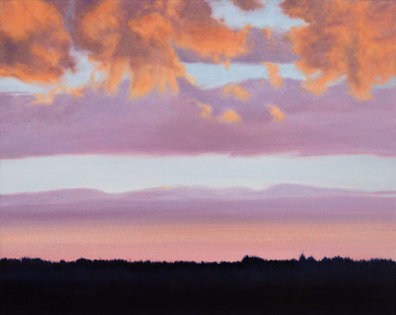 """""""Talking To The Clouds"""" oil on canvas 20 x 30 inches"""