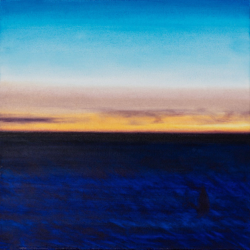 """""""Blue Hour"""" oil on canvas 20 x 20 inches"""