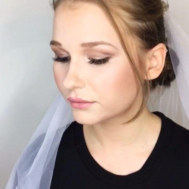 Bridal makeup, she wanted a subtle but b