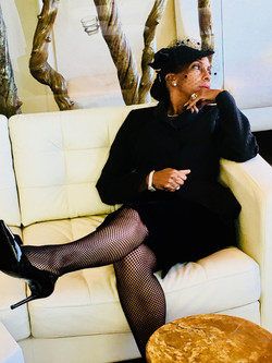 Black Dress with Hat (1)