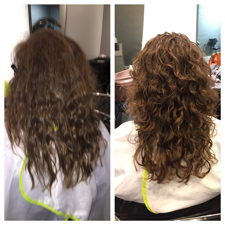 Curly hair transformations for Adiva beauty salon