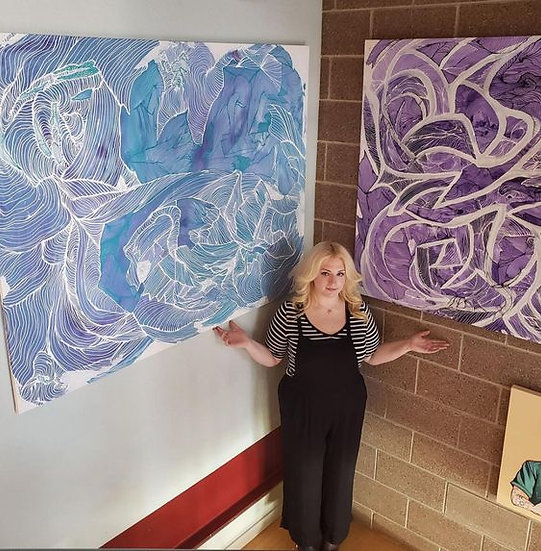 FERTILITY  3.5'x5' Original Acrylic & Ink on Canvas