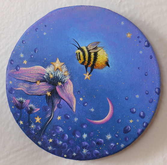 Star Flower and Bee