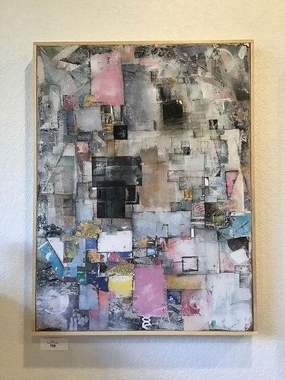 """DIARY · 30x40"""" Mixed Media on Wood Panel - Framed"""