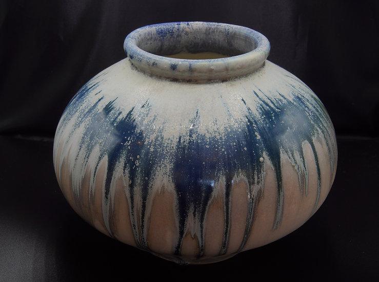 Blue Green Low Vase