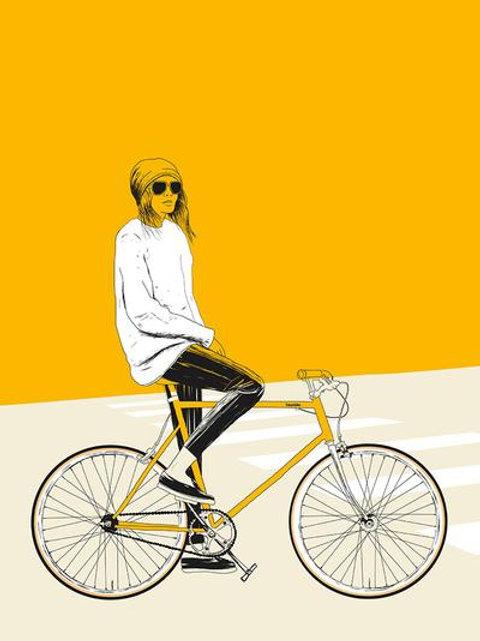 Ilustração Yellow Bike