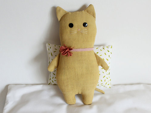 Big Yellow Cat With Flower