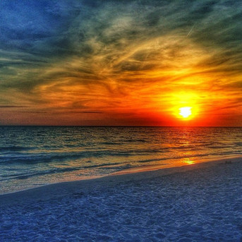 Sunset at Ft Desoto Beach