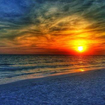Sunset at Ft Desoto Beach