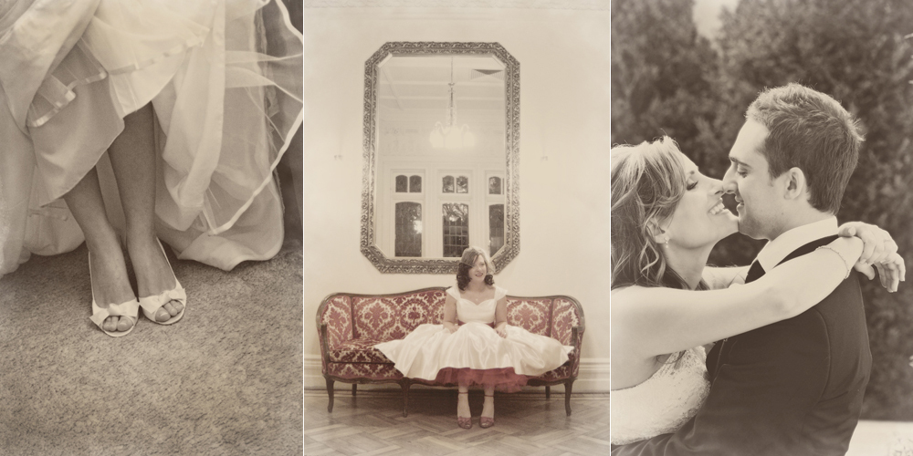 vintage retro wedding brides