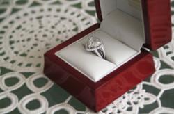 Noosa wedding bride engagement ring