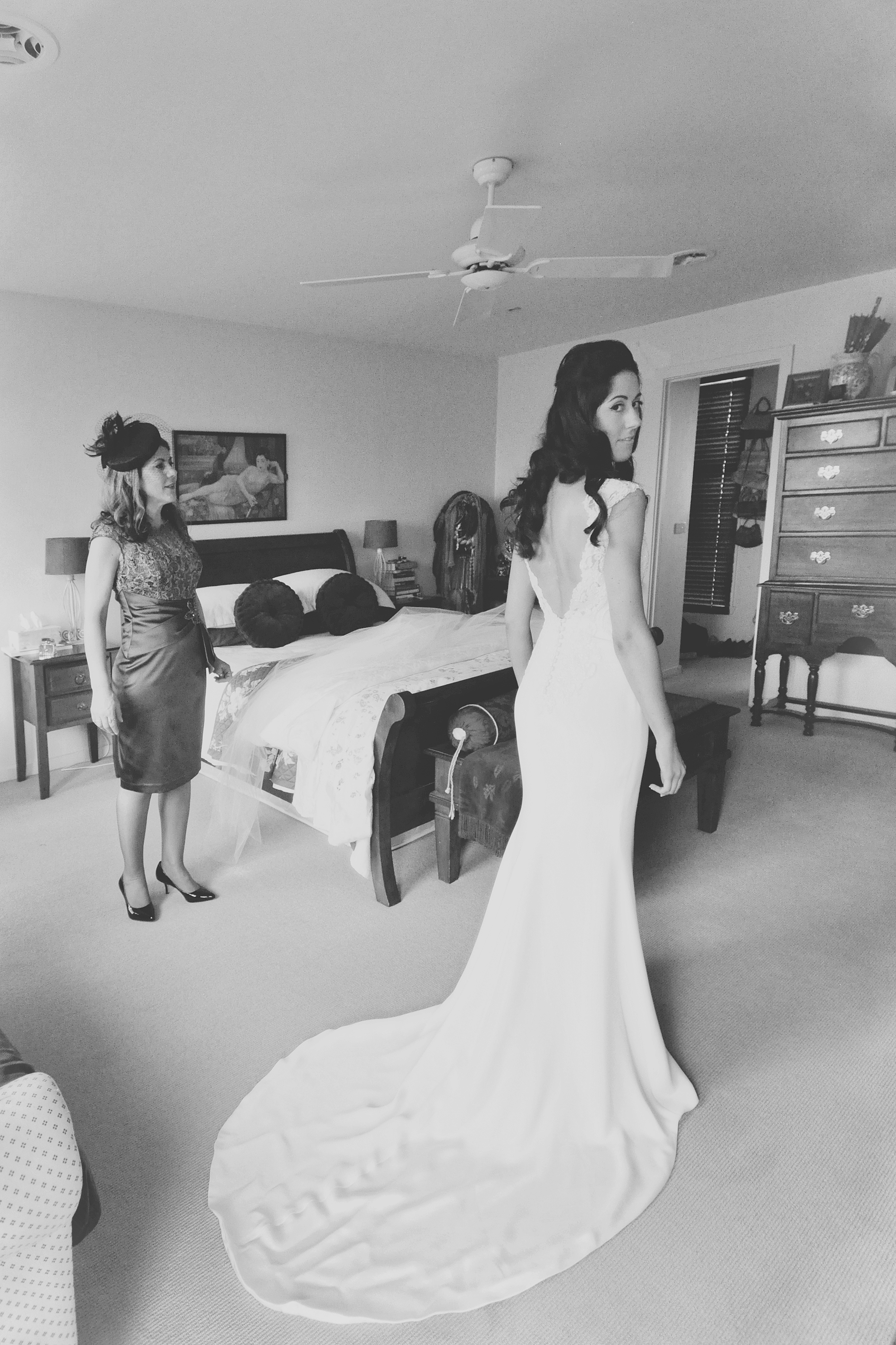 Noosa wedding bride in bedroom