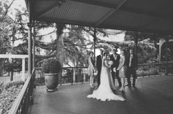 Noosa wedding bridal party on patio